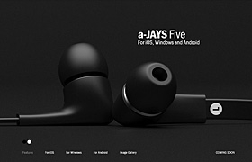 網站制作之藍鳥耳機頁面設計