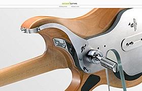 網站制作之吉他類頁面設計